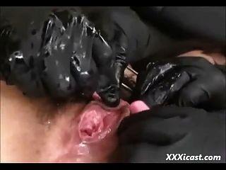 asiático adolescente atado y hecho al orgasmo
