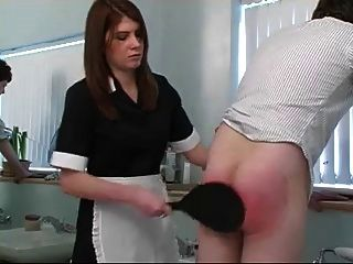 naughty boy spanked en el baño
