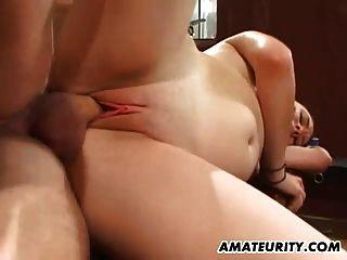 amateur novia acción anal con corrida facial