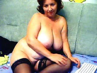 abuelita agradable con tetas grandes