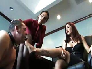 dos señora humillada pie esclavo