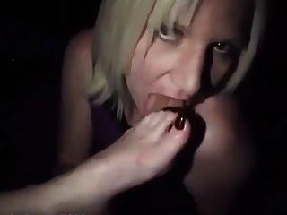 lesbianas, esclavo, adoración, pies, club, fiesta