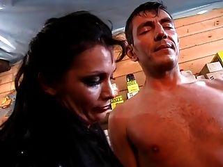 amante, y su compañero disfrutar con un esclavo masculino