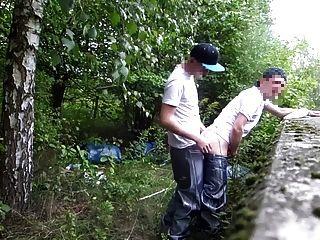 en los bosques pantalones baggy brillante