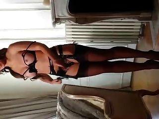julie skyhigh en 13cm tacones arqueados y medias 4marc dorcel