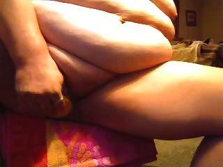bbw jugando con su coño
