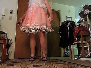sissy ray en vestido rosa sissy