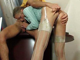 buty secreter en medias de seda