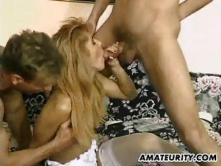 amateur novia anal doble penetración y facial