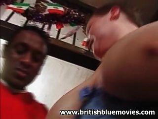 británico aficionado bbw milf tomar una gran polla negra