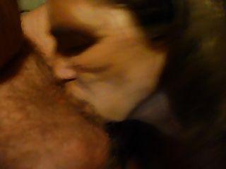 chupar mi marido polla con semen en mi boca