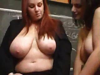 busty lesbiana profesor follada