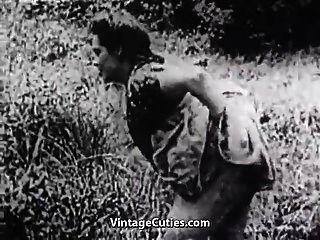sexo duro en el prado verde (1930s vintage)