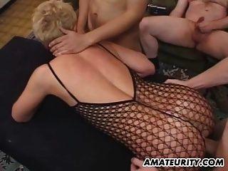 amateur novia anal orgía con faciales
