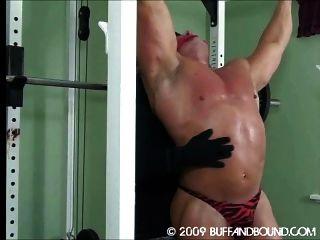 músculos sujetos y azotes