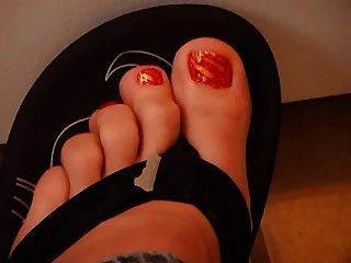 flip flop de los pies de sueño