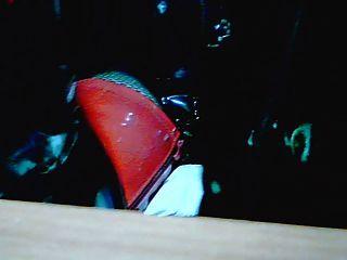 muslo botas altas rojo y cuerpo pvc negro ...
