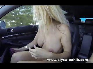 sexo público en la carretera