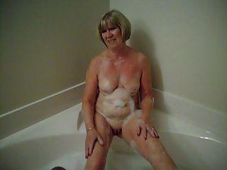 hora del baño para fiona