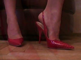 bombas atractivas de la mujerzuela de los altos talones del slingback del stiletto del pantyhose del tan