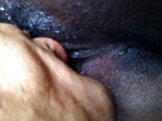 ébano con los labios largos del gatito