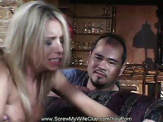 marido comparte su esposa córnea