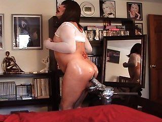 slut cd helen lago atrapado en webcam disfrutando dildo enorme!