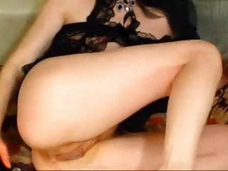 ella folla su culo con el consolador y el puño