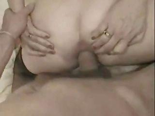 abuela francesa tomar una polla grande en su culo y facialized