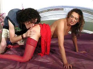 Milf vestido rojo