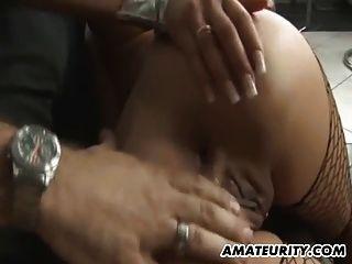 busty aficionado adolescente novia anal follada con cum en el culo