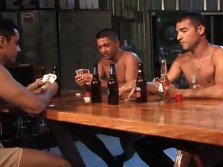 trío del póker de la tira del ejército.