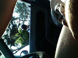 parpadeo y cum en coche