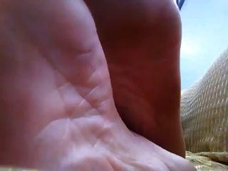 fetiche hermosa sexy soles de cerca