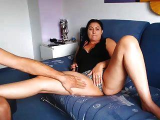 milf italiano maduro mostrando coño en la cámara