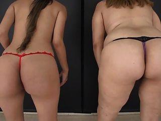 2 chicas lactando pechos sin coño