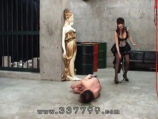 femdom japonés golpeó con un látigo a la esclava