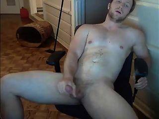 cute muscled stud jerks off y cums para mí en la cámara