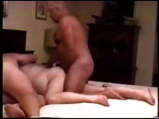 tres hombres maduros follando