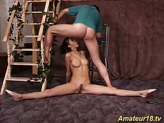sexo adolescente flexible gimnástico