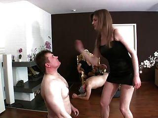 Polaco femdom faceslap humailation