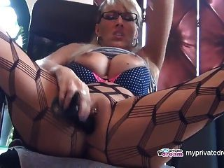 myprivatedream hot milf dildo play and squirt