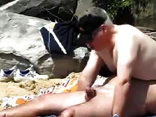 gay mayores hombres gordos follando en la playa