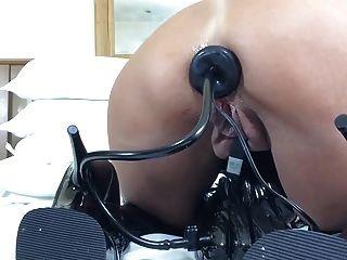 enchufe anal inflable + juego de látex + botas de muslo 2