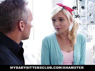 mybabysittersclub adorable niñera adolescente folla por un aumento