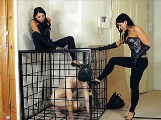 humillación femdom ruso y esclavo de entrenamiento