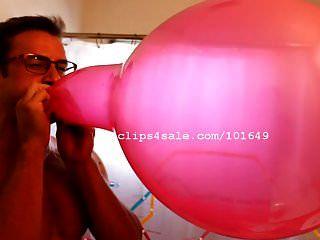 Lona fetiche del globo haciendo estallar globos video 1