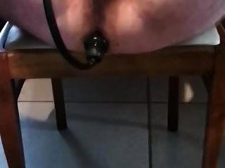 Slomo buttplug me abre el culo cuando se desliza