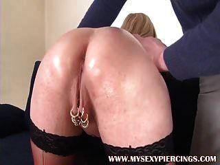 mi sexy piercings marina con coño perforado áspero anal fuck