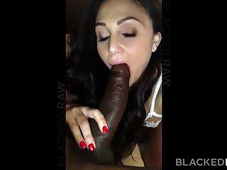 Blackedraw rizado morena esposa ama gallo negro en su hotel